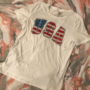 PINK Victoria Secret Fourth Of July Bling Tee